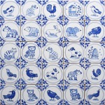 Mini Delft animal and bird tiles