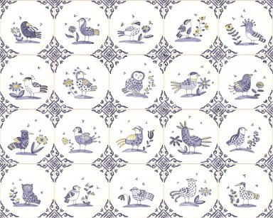 Delft Birds and Bees tile range