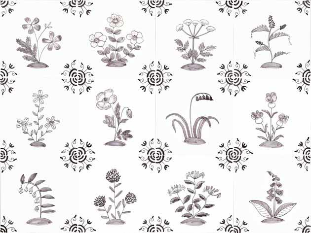 Wildflower tiles