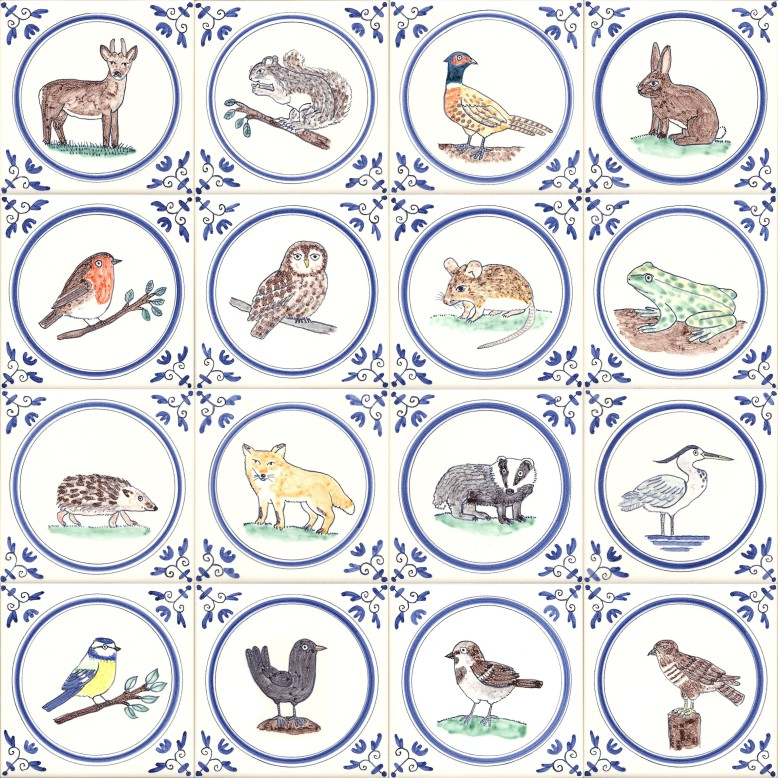 Coour Wildlife tiles
