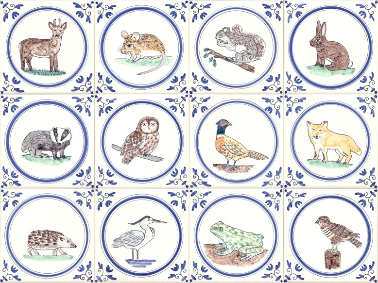 Full colour wildlife tiles