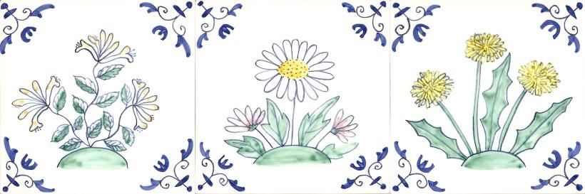 Wild flower tiles
