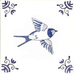 Delft bird tile