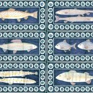 British river fish tiles