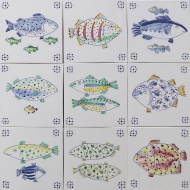 delft fish tiles