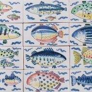 Little rectangular fish tiles