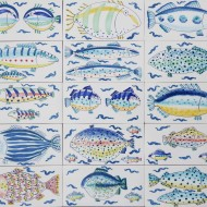 Oblong fish tiles