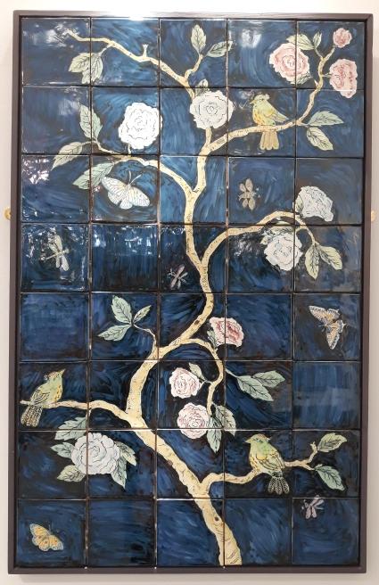 Blue Chinoiserie tiles