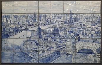 London cityscape blue