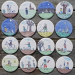 Country scene coasters