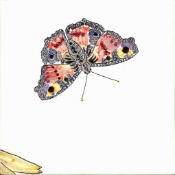 Peacock Butterfly tile
